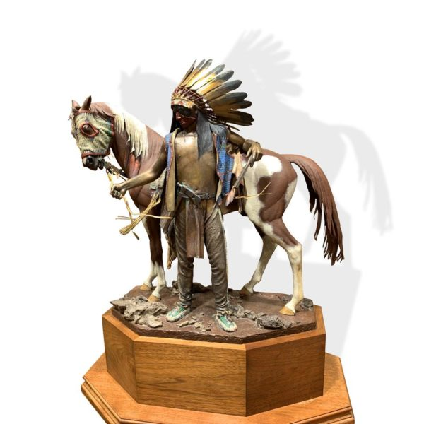 "Sculpture: ""Young Men Of The Enemy, Fear His Horse"" By Dave McGary"