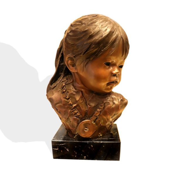 "Sculpture: ""Navajo Girl"" By Dee Toscano"