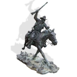 """Sculpture: """"The Marshal"""" By Harry Jackson"""