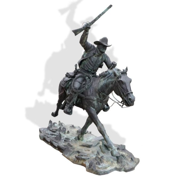 "Sculpture: ""The Marshal"" By Harry Jackson"